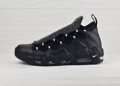 Nike Air More Money - Black/Metallic Silver-Black