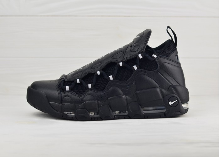 Мужские кроссовки Nike Air More Money - Black/Metallic Silver-Black | Интернет-магазин Sole