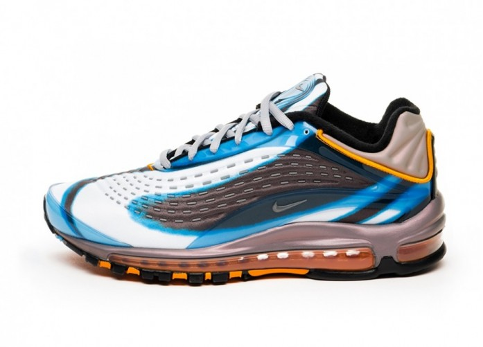 "Кроссовки Nike Air Max Deluxe ""OG Colorway"" - Photo Blue / Wolf Grey - Orange Peel - Black | Интернет-магазин Sole"