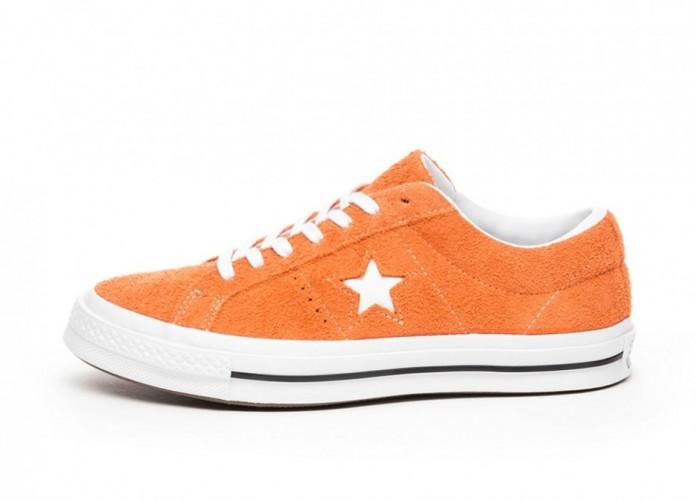 Кроссовки Converse One Star Ox (Bold Mandarin / White / White) | Интернет-магазин Sole