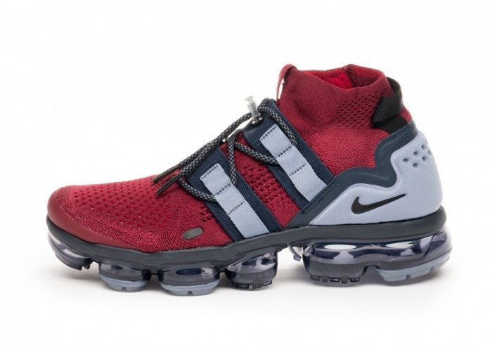 Кроссовки Nike Air Vapormax Flyknit Utility (Team Red / Black - Obsidian - Ashen Slate) | Интернет-магазин Sole