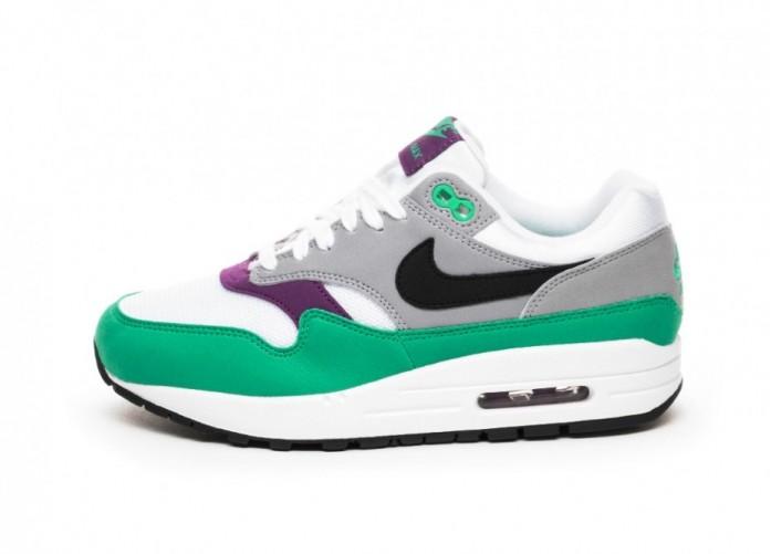 Кроссовки Nike Wmns Air Max 1 - White / Black - Wolf Grey - Clear Emerald | Интернет-магазин Sole