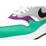 Кроссовки Nike Wmns Air Max 1 - White / Black - Wolf Grey - Clear Emerald, фото 6 | Интернет-магазин Sole