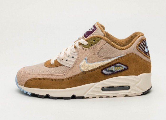 Кроссовки Nike Air Max 90 PRM SE - Muted Bronze / Light Cream - Royal Tint | Интернет-магазин Sole