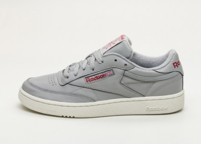 Кроссовки Reebok Club C 85 MU (Vintage - Mgh Solid Grey / Power Red / Chalk)