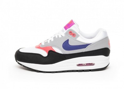 Кроссовки Nike Wmns Air Max 1 - White / Court Purple - Wolf Grey - Black