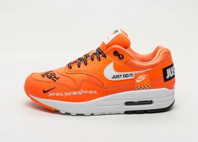"Кроссовки Nike Wmns Air Max 1 LX ""Just Do It"" - Total Orange / White - Black"