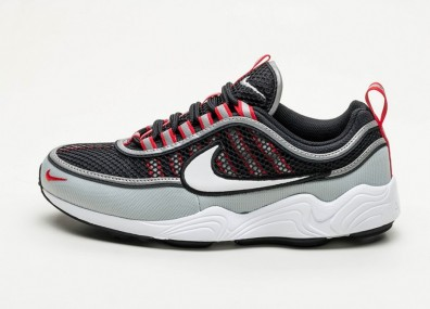 Кроссовки Nike Air Zoom Spiridon '16 - Black / White - Wolf Grey - University Red