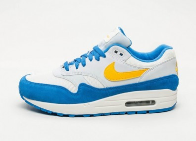 Кроссовки Nike Air Max 1 - Sail / Amarillo - Pure Platinum - Signal Blue