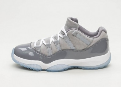 "Кроссовки Nike Air Jordan 11 Retro Low ""Cool Grey"" - Medium Grey / White - Gunsmoke"