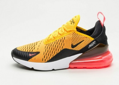 Кроссовки Nike Air Max 270 - Black / University Gold - Hot Punch - White