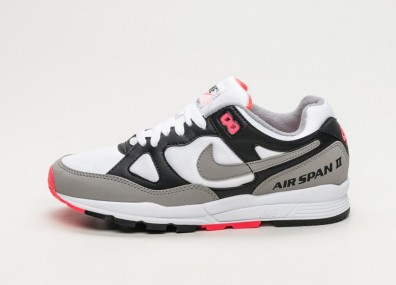 Кроссовки Nike Wmns Air Span II - Black / Dust - Solar Red - White