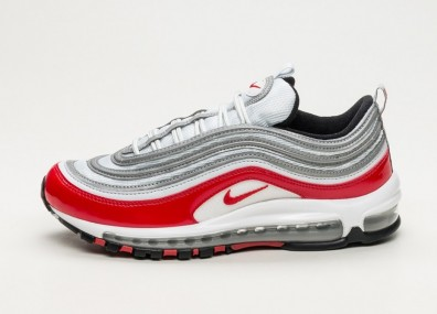 Кроссовки Nike Air Max 97 - Pure Platinum / University Red - Black - White
