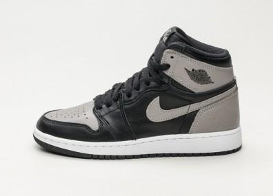Кроссовки Nike Air Jordan 1 Retro High OG BG *Shadow* Black / Medium Grey - White
