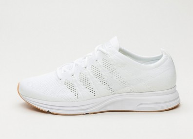 Кроссовки Nike Flyknit Trainer - White / White - White - Gum Light Brown