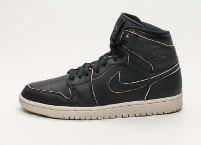Кроссовки Nike Air Jordan 1 Retro High Premium - Black / Black - Desert Sand