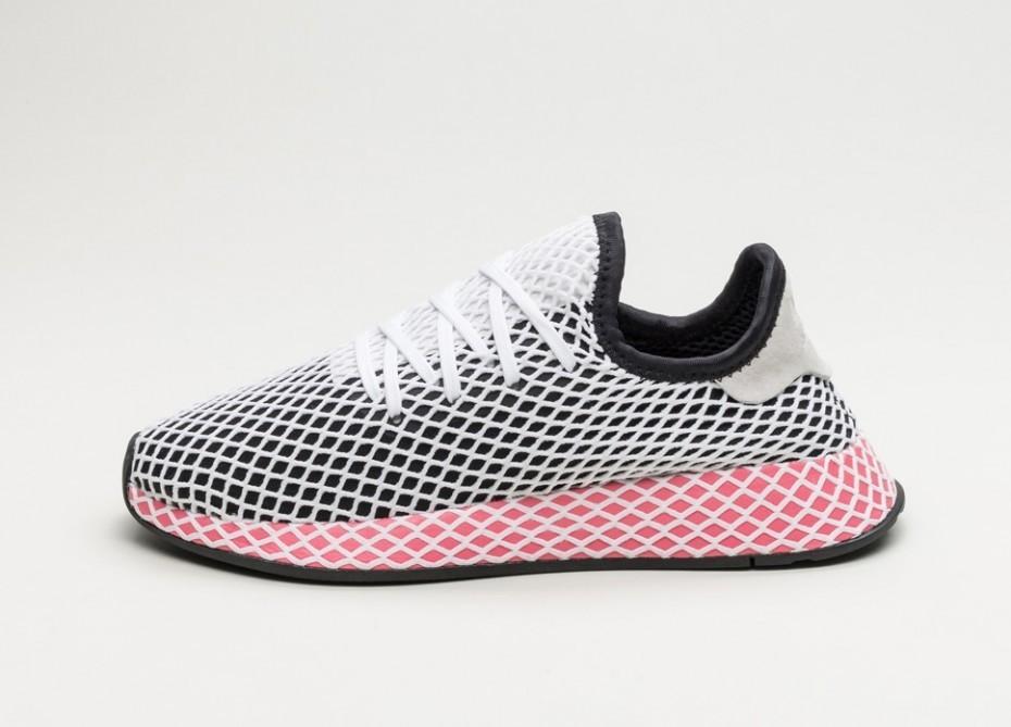outlet store bb304 8c773 Кроссовки adidas Deerupt Runner W - Core Black  Core Black  Chalk Pink   Интернет
