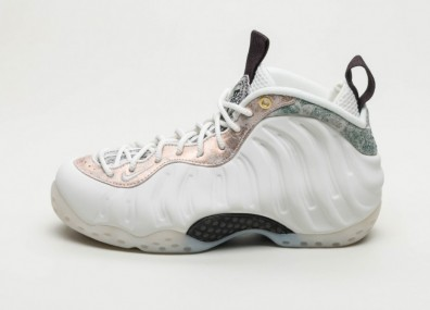Кроссовки Nike Wmns Air Foamposite One (Summit White / Summit White - Oil Grey)