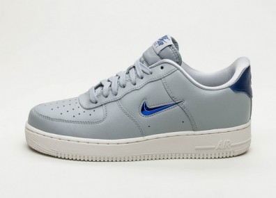 Кроссовки Nike Air Force 1 '07 LV8 Leather (Wolf Grey / Deep Royal Blue - Summit White)