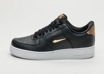 Кроссовки Nike Air Force 1 '07 LV8 Leather - Black / Metallic Gold - White