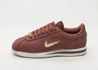Кроссовки Nike Wmns Cortez Basic Jewel '18 (Red Sepia / Metallic Gold Star - Summit White)