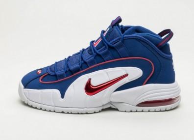 Кроссовки Nike Air Max Penny - Deep Royal Blue / Gym Red - White