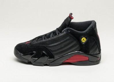"Кроссовки Nike Air Jordan 14 Retro GS ""Last Shot"" - Black / Varsity Red - Black"