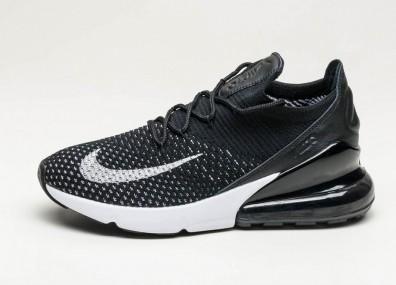 Кроссовки Nike Wmns Air Max 270 Flyknit - Black / White - White