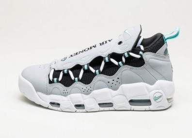 Кроссовки Nike Air More Money - Wolf Grey / Island Green - Black