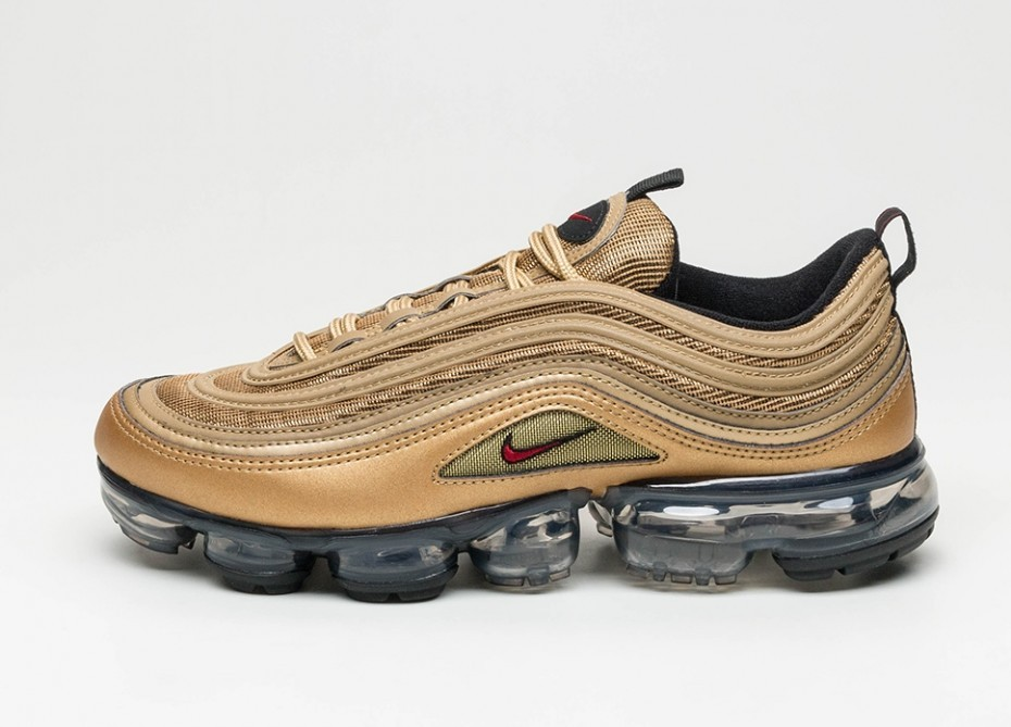 845e61901ea6f Кроссовки Nike Air Vapormax  97 - Metallic Gold   Varsity Red - Black -  White