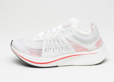 Кроссовки Nike Zoom Fly SP (White / Sail - Bright Crimson)
