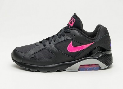Кроссовки Nike Air Max 180 - Black / Pink Blast - Wolf Grey