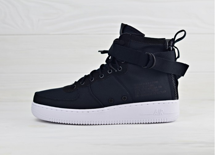 Кроссовки Nike SF Air Force 1 Mid - Black/White/Anthracite | Интернет-магазин Sole