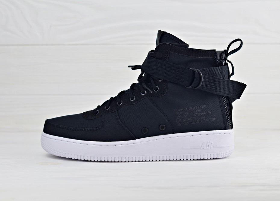 fccbd9c9ee51 Кроссовки Nike SF Air Force 1 Mid - Black White Anthracite   Интернет-