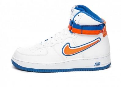 Кроссовки Nike Air Force 1 Hi '07 LV8 Sport (White / Team Orange - Game Royal)