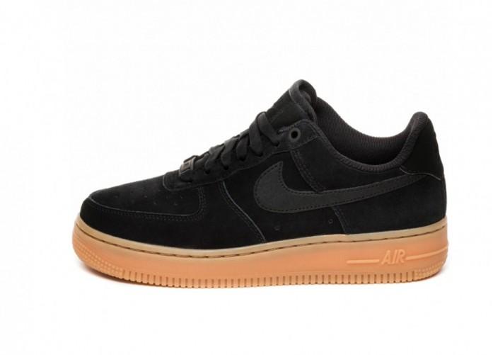 Кроссовки Nike Wmns Air Force 1 '07 SE (Black / Black - Gum Medium Brown - Ivory) | Интернет-магазин Sole