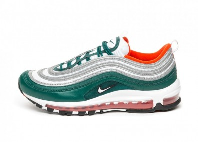 Кроссовки Nike Air Max 97 (Rainforest / White - Team Orange - Black)