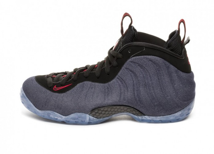 Кроссовки Nike Air Foamposite One *Denim* (Obsidian / Black - University Red) | Интернет-магазин Sole