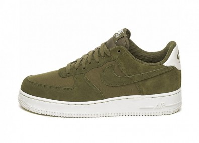 Кроссовки Nike Air Force 1 '07 Suede (Medium Olive / Medium Olive - Sail)