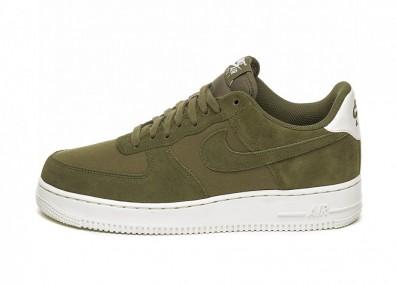Кроссовки Nike Air Force 1 '07 Suede (Medium Olive / Medium Olive - Sail)