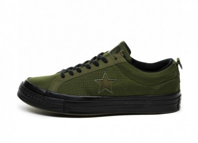Кроссовки Converse x Carhartt One Star Ox (Herbal / Medium / Olive / Black)