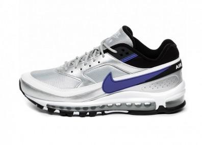 Кроссовки Nike Air Max 97 / BW (Metallic Silver / Persian Violet - Black)