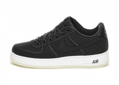 Кроссовки Nike Air Force 1 Low Retro QS CNVS (Black / Black - Summit White)