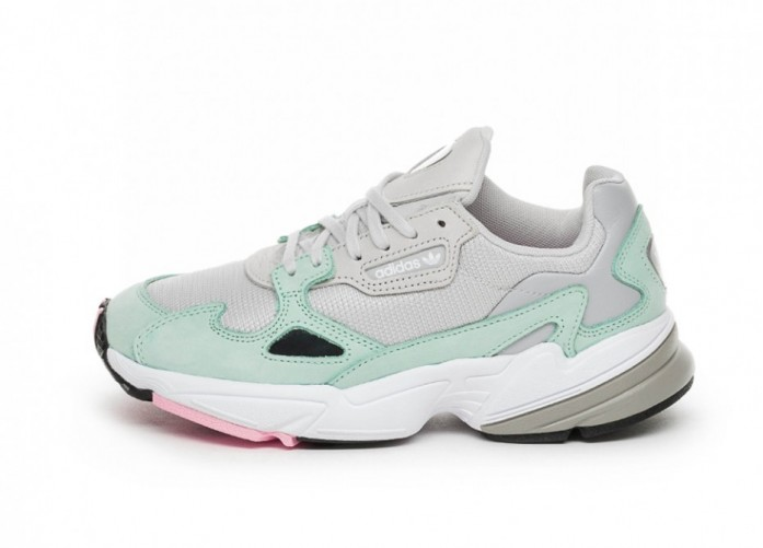 Кроссовки adidas Falcon W (Grey One / Grey One / Easy Green) | Интернет-магазин Sole