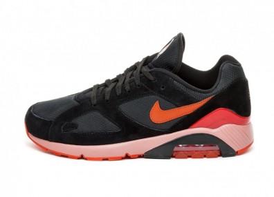 Кроссовки Nike Air Max 180 (Black / Team Orange - University Red)