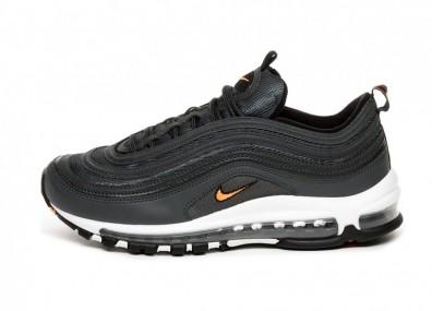 Кроссовки Nike Air Max 97 (Anthracite / Total Orange - Black - White)