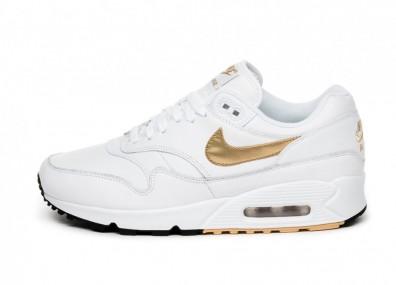 Кроссовки Nike Air Max 90/1 (White / Metallic Gold - Black)