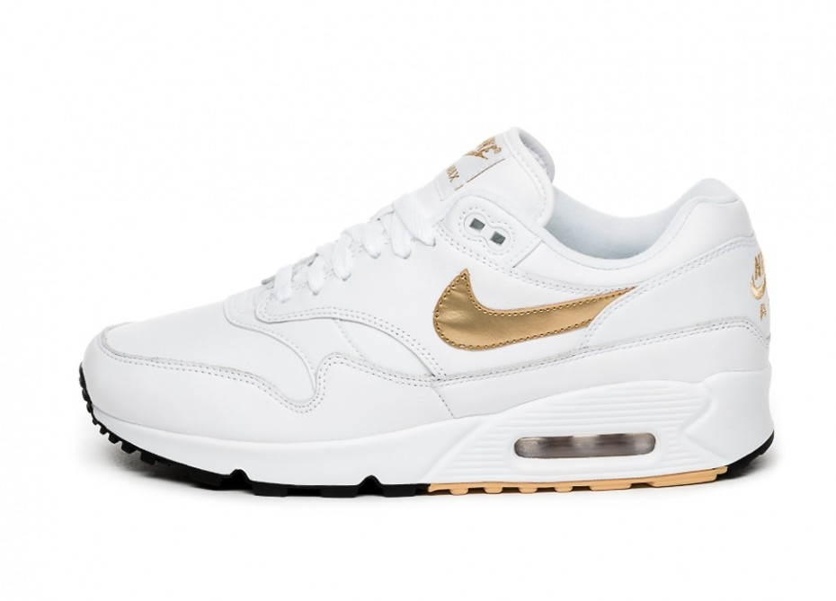 Кроссовки Nike Air Max 90 1 (White   Metallic Gold - Black) AJ7695 ... b0892ea354b4a