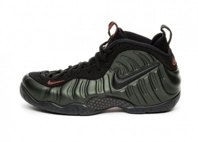Кроссовки Nike Air Foamposite Pro (Sequoia / Black - Team Orange)