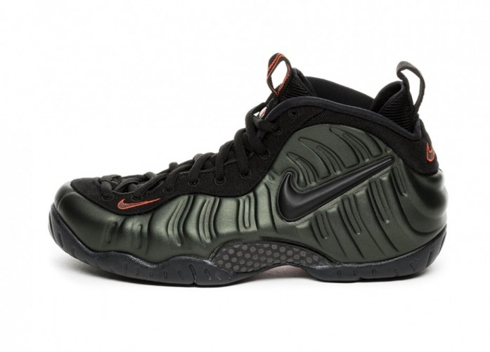 Кроссовки Nike Air Foamposite Pro (Sequoia / Black - Team Orange) | Интернет-магазин Sole